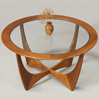 Coffee Table - G Plan Astro - Teak & Glass, Retro, 1960/70s (delivery available)