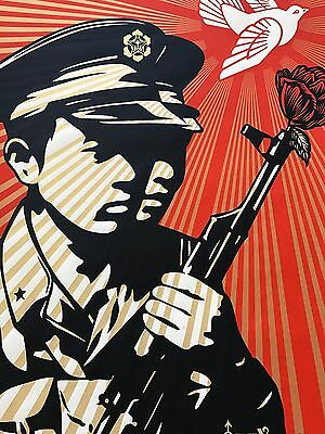 "Shepard Fairey Obey Giant "" Chinese Soldiers ""  Signed 2006"