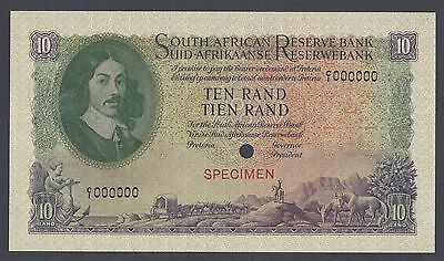 South African 10 Pounds ND 1961 P106ct Specimen Color Trial Uncirculated