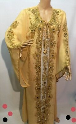 Wedding Moroccan Kaftan Dress - Dubai Arabic Caftan Abaya Farasha 2 piece set