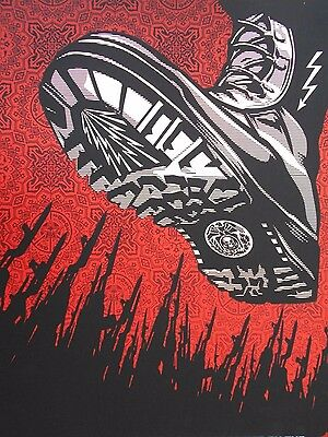 """Shepard Fairey Obey Giant """"Tyrant Boot""""  Signed 2008"""