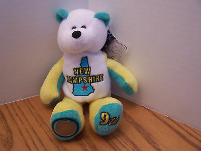 New Hampshire Bear Limited Edition State Bear With Quarter & With Tags