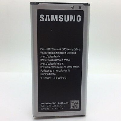 New Original Samsung Battery Galaxy S5 I9600 G900 G870 G860 EB-BG900BBE 2800mAh