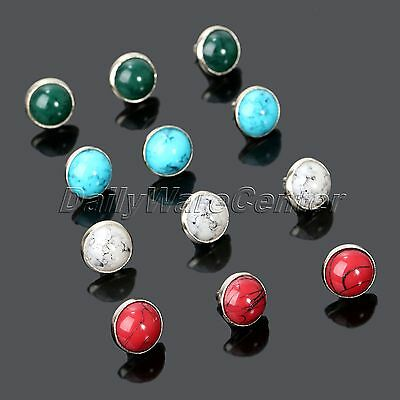 50Pcs Set Leather Home Hand Craft Turquoise Rapid Rivets Studs Buttons Dia 8.5mm