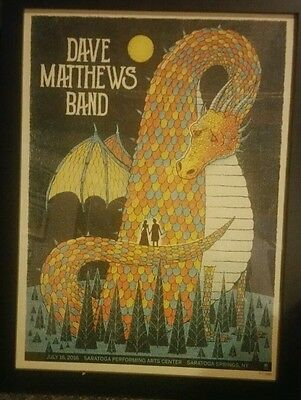 Dave Matthews Band poster Saratoga 2016 Night 2