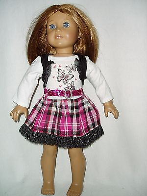 """Butterfly Dress fits American Girl dolls 18"""" doll clothes"""