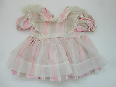 Cute Vintage Striped W Pinafore Lace Doll Dress