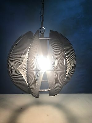 VINTAGE Mid Century Modern Lucite Geometric String Art Ceiling Light Fixture