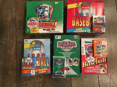 Huge Lot of Unopened 1990 Baseball Card Packs from Box/Case/Cello/Wax/Rack BONUS