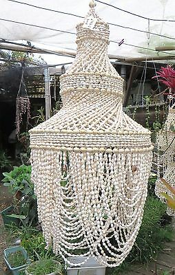 Beautiful Hanging shell craft white shell chandelier(YMCA12)