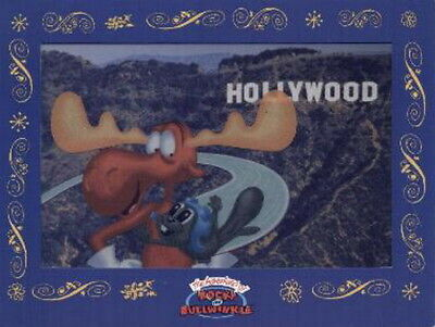 Rocky and Bullwinkle Cybercene 3D cel promo collectible - 1999