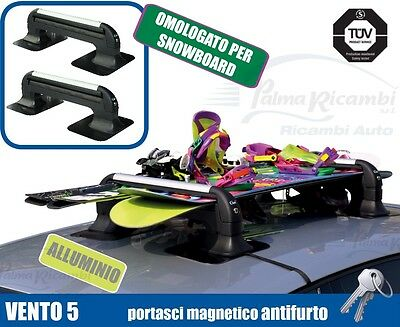 A8940 Ski Roof Rack Magnetic Ant-Itheft System Gev Vento 5 For 5 Pairs Di Sci O