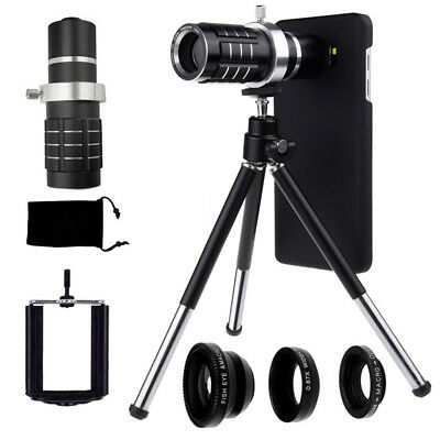 4in1 12x Zoom Telescope Phone Lens+Fisheye Wide Macro For Samsung Galaxy Note 5