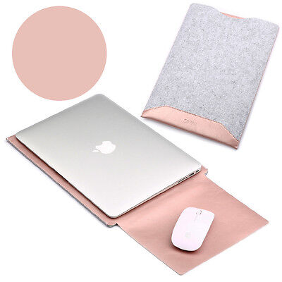 "Felt PU Sleeve Laptop Case Cover Bag for MacBook Air Pro11"" 12"" 13"" Retina 15"""