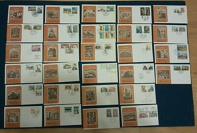 EUROPA 1978 First Day Covers 28 as listed below --Mint - stamps cat £74