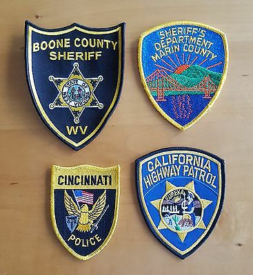 USA - 4 x Different Police Patches
