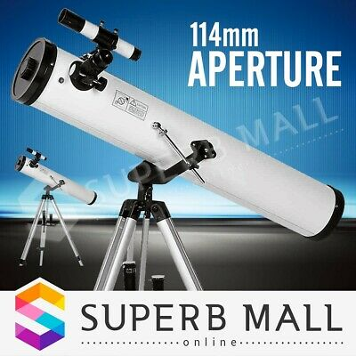 114mm Aperture Telescope 675x Zoom HD Astronomical High Resolution w/3 Eyepieces