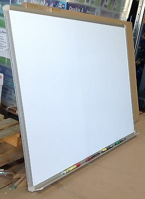 RAPID WALL MOUNTED WHITE BOARD W1812 - aluminium framed with tiny fault
