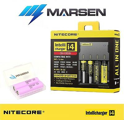 Nitecore i4 Charger with Samsung INR18650-30Q 3000mA High drain Li-ion batteries