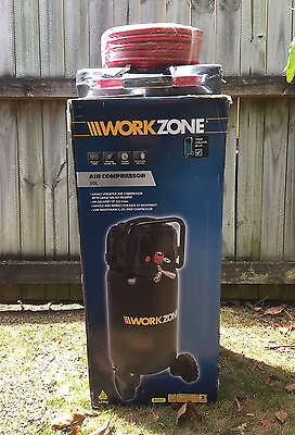 Work Zone 50L 2Hp 1500W Air Compressor With Hose & Nail Gun New Ryde Nsw