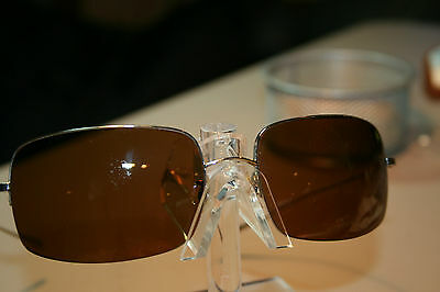 Oliver Peoples Encore S Large Lens Silver Bronze Sunglasses Discontinued EUC