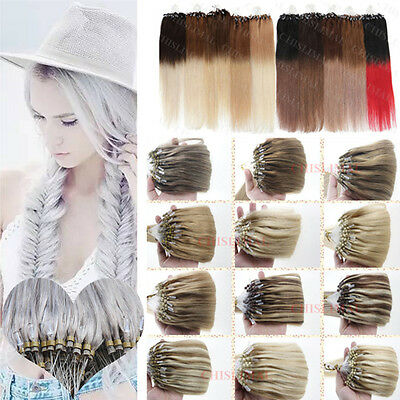 7A 100/200S 40-65CM Omber 100% REMY EXTENSIONS DE CHEVEUX POSE A FROID LOOP