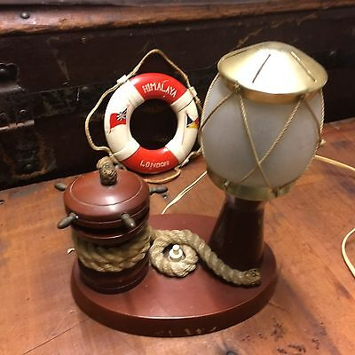 Vintage Nautical Desk Lamp & Buoy