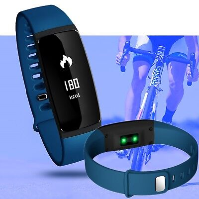 Bluetooth Fitness Activity Tracker Blood Pressure/Heart Rate Monitor Smart Watch