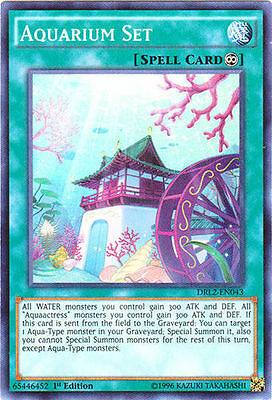 1x Aquarium Set - DRL2-EN043 - Super Rare - 1st Edition YuGiOh NM