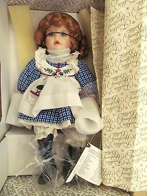 FRANKLIN MINT Heirloom Dolls-ANNIE THE OREO KID-NEVER REMOVED FROM BOX-NO COA