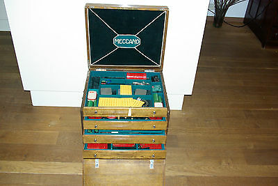 Meccano Vintage Shop Cabinet Drawer Of The 50's Excellent Very Rare Selten!!!