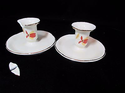 2 - Hall Autumn Leaf Jewel Tea Candle Holders 1988 NALCC Only 892 issued 1 Broke