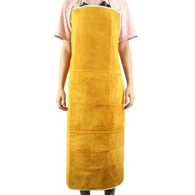 Leather Welding Apron Split Cowhide Welders Apron Safety 90 x 60 cm Yellow
