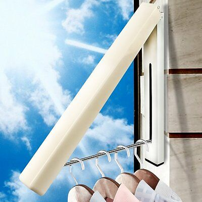 Folding Collapsible Wardrobe Hook Drying Holder Wall Mounted Clothes Hanger Rack