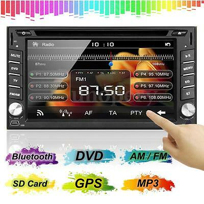 6.2'' 2DIN HD Autoradio Stereo DVD MP3 Player Bluetooth GPS USB TV AM FM Camera