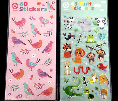Zoo Animals And Birds Stickers - Scrapbooking Art Fun Project Kids School Diy