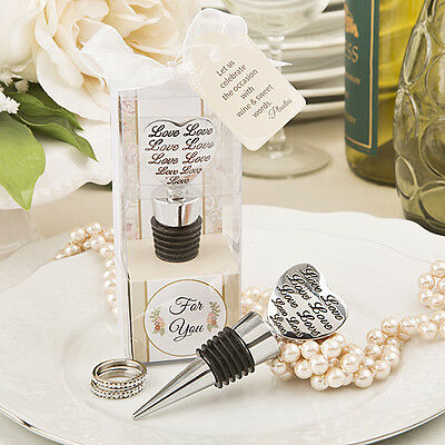 1 x Love Engraved Wine Bottle Stopper - NEW - Wedding Favours and Gifts
