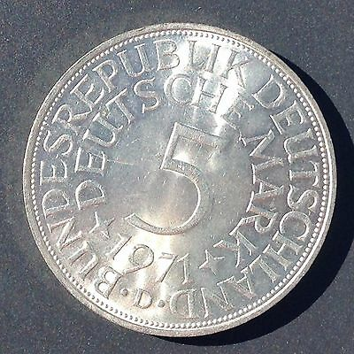 1971-D Germany Silver 5 Mark Coin