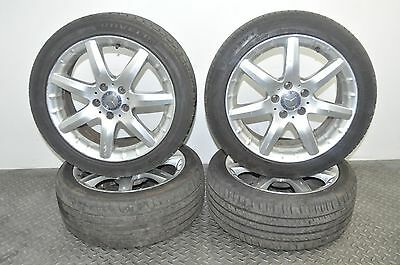 Mercedes C Class Cl203 2002 Rhd R17 Alloy Wheels 7.5Jx17Et37 With Tyres 225/45