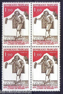 France 1973 MNH Blk 4, Moliere, Actor, Greatest Masters of Comedy  - M29