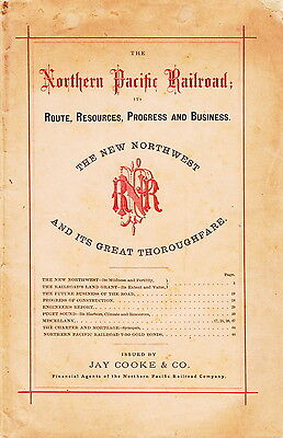 Northern Pacific Railroad Promotional Booklet - 1871