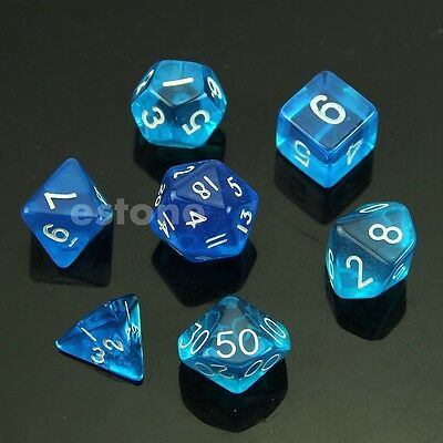 7 Sided Die D4 D6 D8 D10 D12 D20 MTG RPG D&D DND Poly Dices Board Game Chess BL
