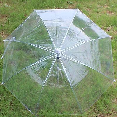 Dome Automatic Umbrella Transparent clear Large Long plastic PVC Wedding Brolly