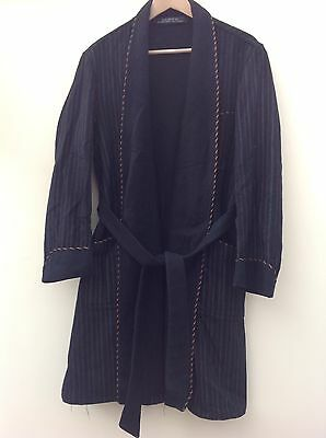 Vintage Wool Striped Dressing Gown