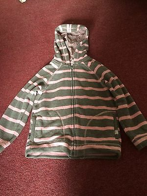 Girls Age 6 Years Pink & Brown Striped Next Hoodie
