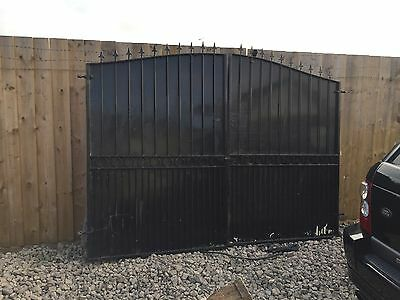 double wrought iron gates 280cm Wide Very Heavy Driveway Garden