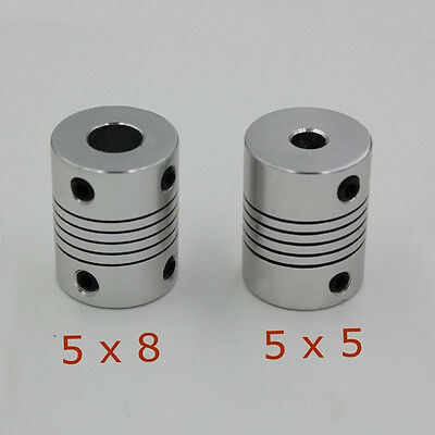 2pcs Coupler 5 x 5mm  5 x 8 mm for 3D Printer Z Axis NEMA17 Stepper Motor RepRap
