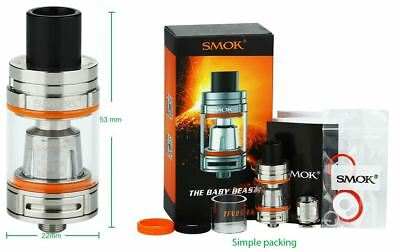 Authentic Smok TFV8 Baby Beast Micro Tank Silver Stainless Steel 100% Genuine
