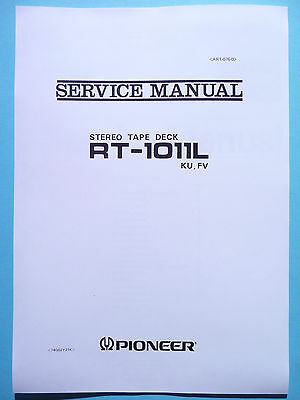 Service manual manual for Pioneer RT-1011L