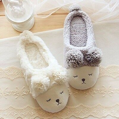 2017 New Winter Women Fleece Warm Shoes Cute Sheep Soft Indoor Home Slippers
